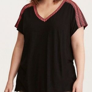 Embroidered Dolman Tee
